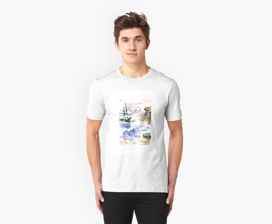 SHIP IN STORM T-SHIRT BY FRANCELLE by francelle  huffman