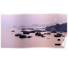 Sunset over Cat Ba, Viêt Nam Poster