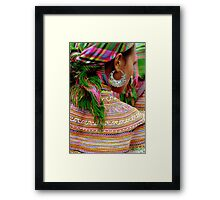 Girl with the Silver Earring Framed Print