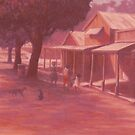 Thursday Island Street Scene by Cary McAulay