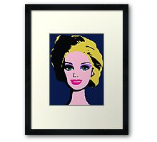 Barbie Monroe Warhol style Framed Print