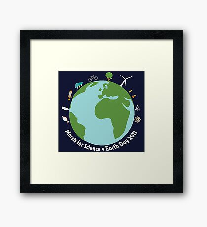 March for Science Earth  Framed Print