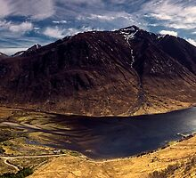 Glen Etive, Scottish Highlands by Michael  Lindsay