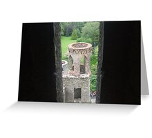 Castle Window View Greeting Card