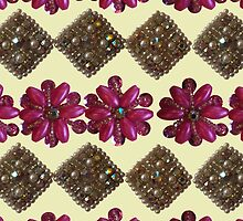 Bright Pink with Sparkles - Vintage Bling by MHen