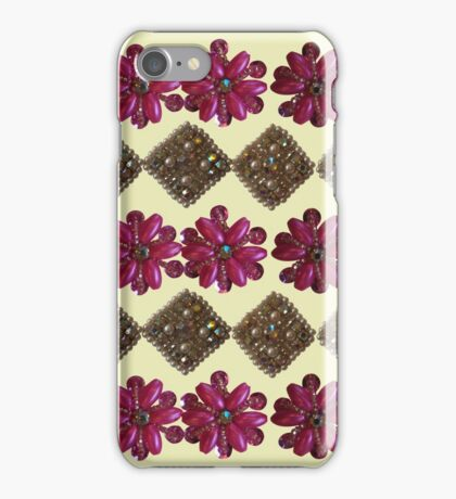 Bright Pink with Sparkles - Vintage Bling iPhone Case/Skin
