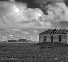 Windmill & Ruins by merridylindner
