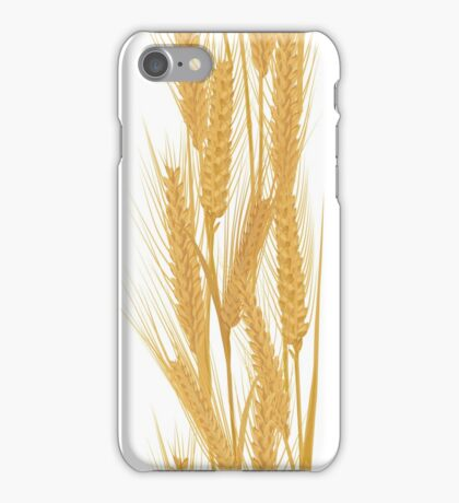 Ears of wheat vertical pattern iPhone Case/Skin
