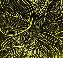 Swirl yellow by AbsurdistArt
