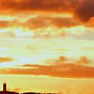 Sunset Over Scrabo Tower by oulgundog