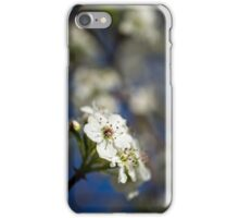 White Macro Flower iPhone Case/Skin