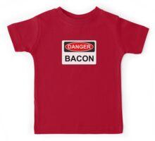 Danger Bacon - Warning Sign Kids Tee