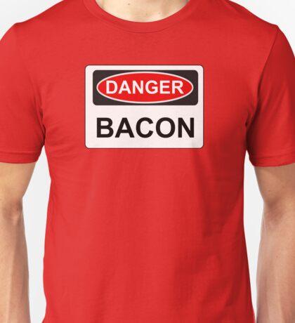 Danger Bacon - Warning Sign Unisex T-Shirt