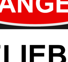 Danger Belieber - Warning Sign Sticker