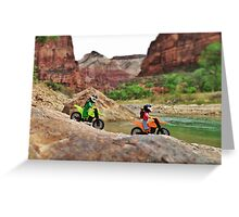 Jerry & William on bikes Greeting Card