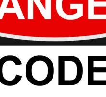 Danger Code Guru - Warning Sign Sticker