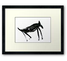 Horsey 3 Framed Print