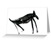 Horsey 3 Greeting Card