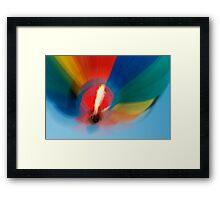 Balloon Blur Framed Print