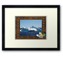 Iceberg-a ...on close up Framed Print
