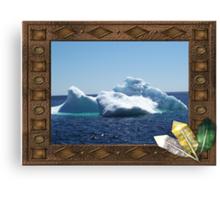 Iceberg-a ...on close up Canvas Print