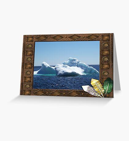 Iceberg-a ...on close up Greeting Card