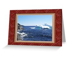 Iceberg-3...at the beach Greeting Card