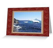 Iceberg-3...at the beach Greeting Card