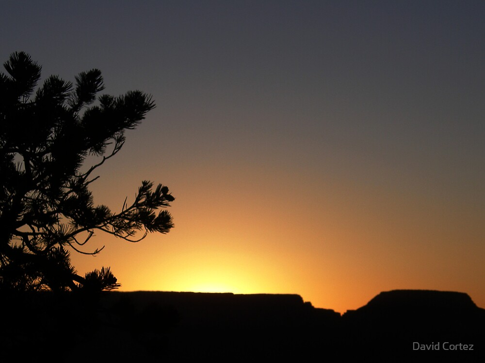 Sunrise in the Grand Canyon by David Cortez
