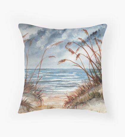 Beach 3 Throw Pillow