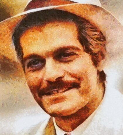 Omar Sharif, Vintage Actor Sticker