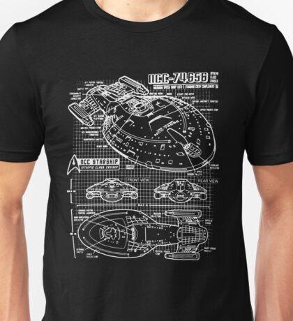USS Voyager blueprint Unisex T-Shirt