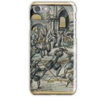 """Meyer """"Fechtschule"""" Scene iPhone Case/Skin"""