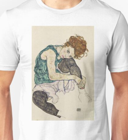 Egon Schiele - Seated Woman With Bent Knee Unisex T-Shirt