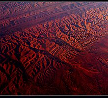 Central Australia at 38,000 ft by Leone Fabre