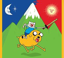 Finn & Jake Adventure Time Albert Hofmann Bikeride LSD Acid Trip Psychedelic by yinon