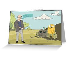 Adventure Time + Curb Your Enthusiasm Greeting Card