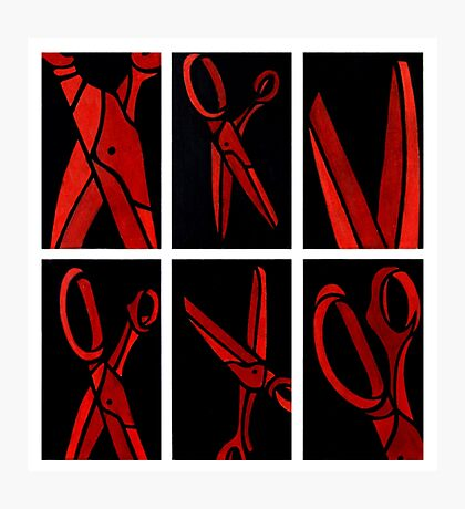 Red Scissors Photographic Print