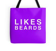 Likes Beards (DS) Tote Bag