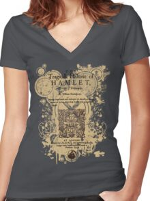 Shakespeare's Hamlet Front Piece Women's Fitted V-Neck T-Shirt