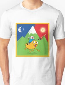 Finn & Jake Adventure Time Albert Hofmann Bikeride LSD Acid Trip Psychedelic T-Shirt