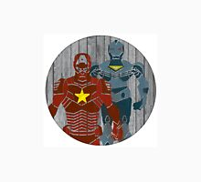 Superhero on wood surface Unisex T-Shirt