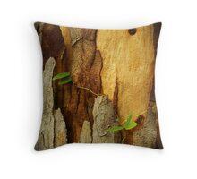 Bark and leaf Throw Pillow