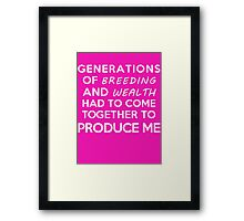 Gossip Girl Quote (DS) Framed Print