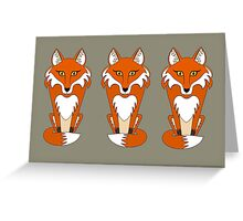 FOX TRIPLETS Greeting Card