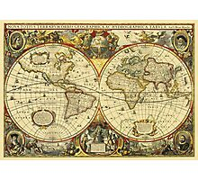 World Map 1641 Photographic Print