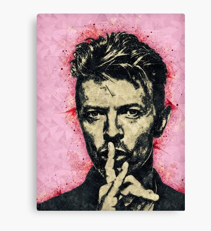 Illustrated David Bowie Print Canvas Print