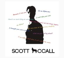 Scott Mccall Quotes T-Shirt