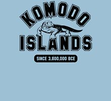 Komodo Islands Varsity Distressed Black Unisex T-Shirt