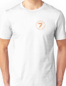 Battered Lucky Number Seven Unisex T-Shirt